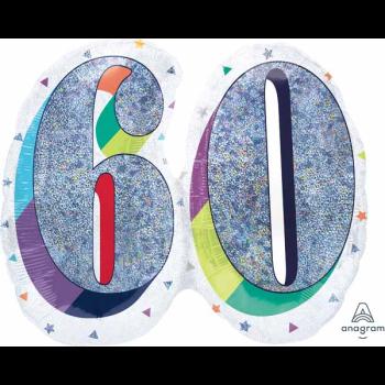 "Image de 26"" - 60th HERE'S TO U BIRTHDAY SUPERSHAPE"