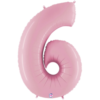 Picture of 40'' NUMBER 6 SUPERSHAPE - PASTEL PINK