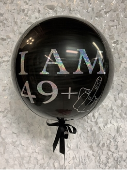 Image de 50TH - 1 - 3 LINES OF PERSONALIZED PRINT - ON FOIL ORB