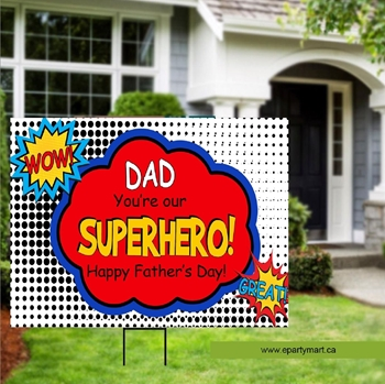 Image de FATHER'S DAY LAWN YARD SIGN