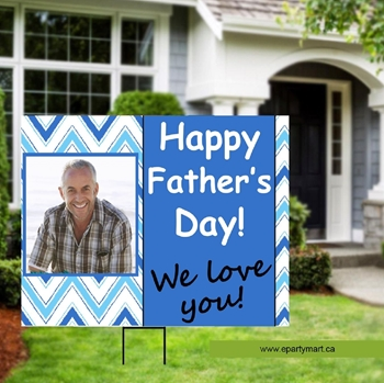 Image de FATHER'S DAY LAWN YARD SIGN - PERSONALIZED