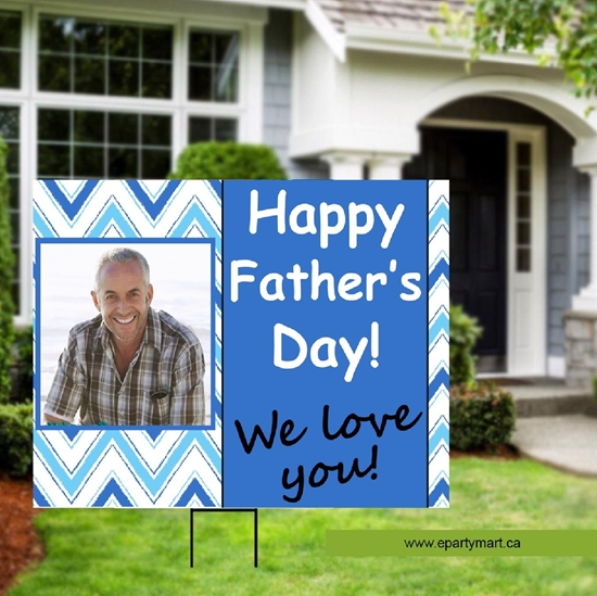 Image sur FATHER'S DAY LAWN YARD SIGN - PERSONALIZED