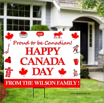 Image de CANADA DAY LAWN YARD SIGN - PERSONALIZED