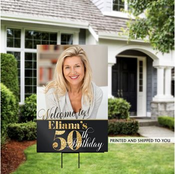 Picture of LAWN YARD SIGN - ADULT BIRTHDAY - PERSONALIZE
