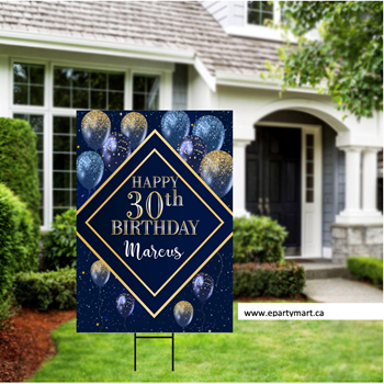 Picture of LAWN YARD SIGN - ADULT BIRTHDAY - PERSONALIZE - ANY AGE