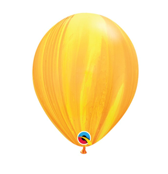 """Image de HELIUM FILLED SINGLE 11"""" BALLOON - PRINTED -  AGATE YELLOW"""
