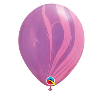 """Image de HELIUM FILLED SINGLE 11"""" BALLOON - PRINTED -  AGATE PINK"""