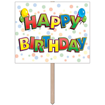 Picture of LAWN YARD SIGN - HAPPY BIRTHDAY
