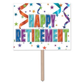 Image de DECOR - HAPPY RETIREMENT YARD SIGN
