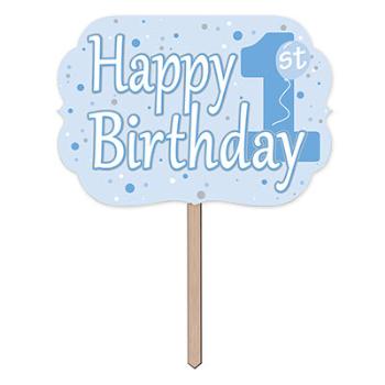 Image de DECOR - 1st BIRTHDAY YARD SIGN - BLUE