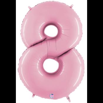 Image de 40'' NUMBER 8 SUPERSHAPE - PASTEL PINK