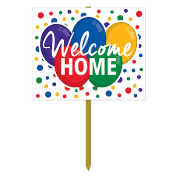 Image de DECOR - WELCOME HOME YARD SIGN