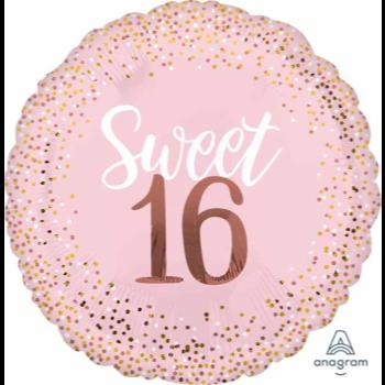 Image de 16th BLUSH FOIL JUMBO SUPERSHAPE - SWEET SIXTEEN