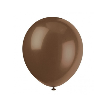 """Picture of 12"""" BROWN BALLOONS 10/pkg"""