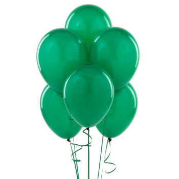 """Picture of 12"""" EMERALD GREEN BALLOONS 10/pkg"""