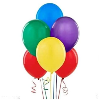 """Picture of 12"""" RAINBOW ASSORTED COLORS BALLOONS 10/pkg"""