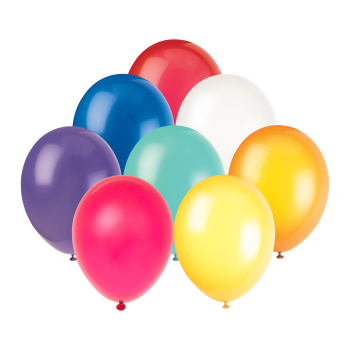 """Picture of 12"""" RAINBOW ASSORTED COLORS BALLOONS 72/pkg"""