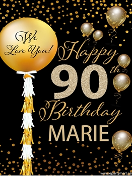 Picture of 90th - LAWN YARD SIGN - 90TH SPARKLING PERSONALIZED