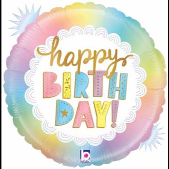 Image de 18'' FOIL - HAPPY BIRTHDAY OPAL - HOLOGRAPHIC
