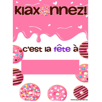"""Picture of LAWN YARD SIGN - ANY BIRTHDAY - DONUT """"WRITE A NAME"""" FRENCH"""