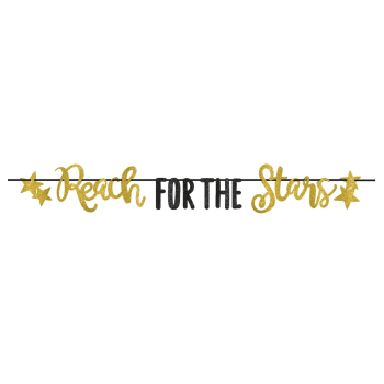 Picture of DECOR - REACH FOR THE STARS LETTER BANNER