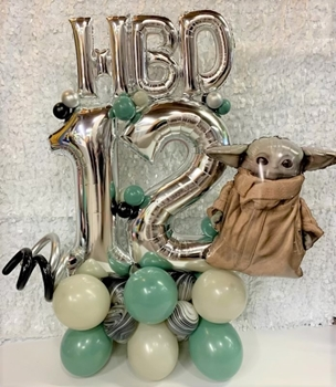 Picture of 1 MARQUEE - ANY 3 SUPERSHAPE ARRANGEMENT / MINI HBD LETTERS