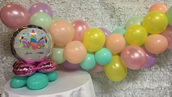 """Picture of GARLANDS - 6' BASIC  (20) 5"""" and (24) 11"""" - 2 LEVEL QUAD COMBO"""