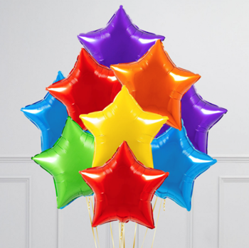 Picture of BB28 - RAINBOW STARS FOIL BOUQUET - ANY COLOURS