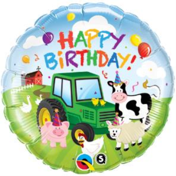 """Picture of BARNYARD ANIMALS HAPPY BIRTHDAY 18"""" FOIL"""