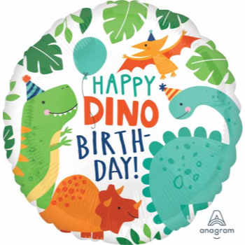 """Picture of 18"""" FOIL - DINOMITE DINOSAUR PARTY BIRTHDAY"""