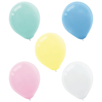"""Picture of 5"""" PASTEL ASSORTED LATEX BALLOONS 50/PKG"""