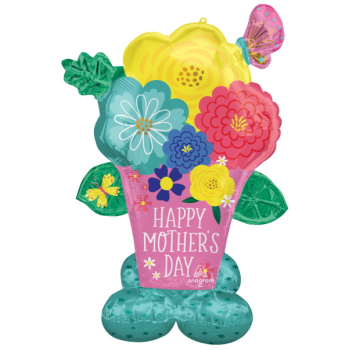 Image de AIRLOONZ - MOTHER'S DAY FLOWER POT - AIR FILLED