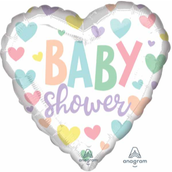 """Picture of 18"""" FOIL - BABY SHOWER HEART"""