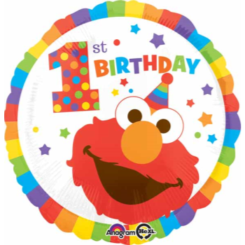 "Image de 18"" FOIL - 1ST BIRTHDAY ELMO"
