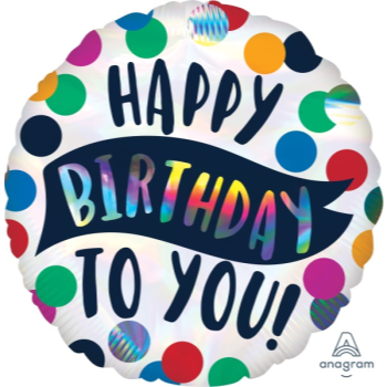 """Image de 18"""" FOIL - HAPPY BIRTHDAY TIME TO PARTY"""