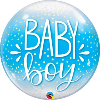 Picture of BABY BOY CONFETTI BUBBLE BALLOON