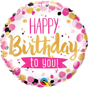 """Image de 18"""" FOIL - BIRTHDAY TO YOU PINK AND GOLD"""