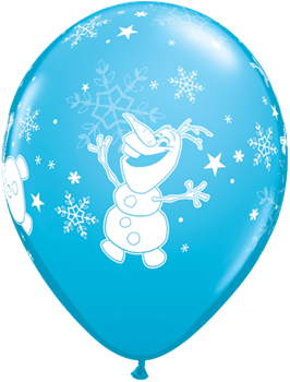 """Picture of HELIUM FILLED SINGLE 11"""" BALLOON - PRINTED -  LICENSE - FROZEN OLAF"""
