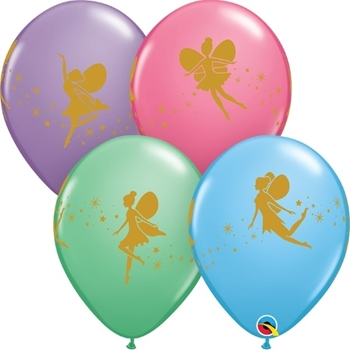 """Image de HELIUM FILLED SINGLE 11"""" BALLOON - PRINTED -  FAIRIES AND SPARKLE"""