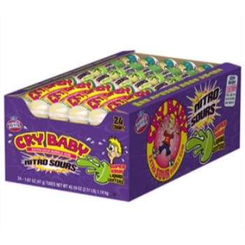 Picture of 1 PACK CRY BABY NITRO SOUR GUMBALLS - 9CT