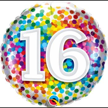 "Image de 18"" FOIL - 16 RAINBOW CONFETTI"