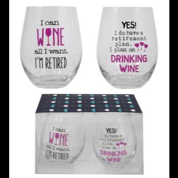 Image de RETIRED WINE GLASS SET