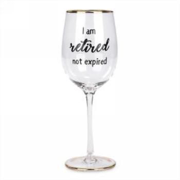Image de DECOR - GOLD EDGE WINE GLASS - RETIRED...NOT EXPIRED