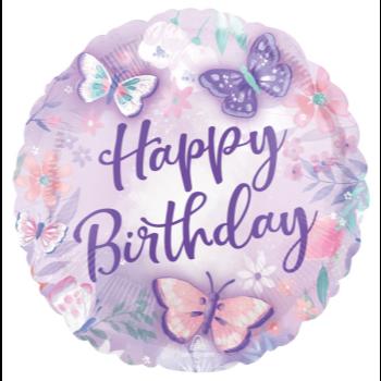 """Image de 18"""" FOIL - FLUTTERS BIRTHDAY"""
