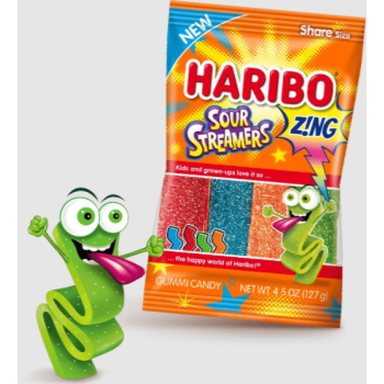 Picture of 1 PACK HARIBO ZING SOUR STREAMERS