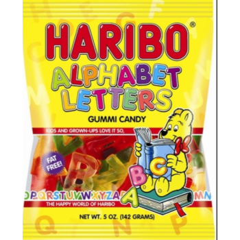 Picture of 1 PACK HARIBO ALPHABET LETTERS