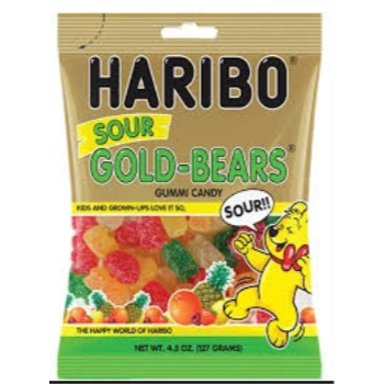 Picture of 1 PACK HARIBO SOUR GOLD BEARS