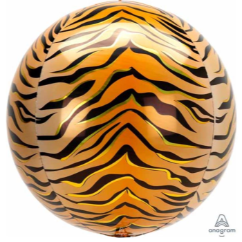 Picture of 21'' TIGER PRINT ORBZ BALLOON