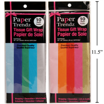 Picture of TISSUE PAPER - ASSORTED COLORS