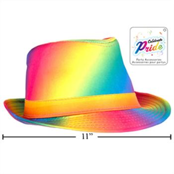 Picture of PRIDE RAINBOW FEDORA HAT